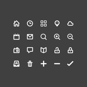 Top 20 Glyph Icons Design Free PSD Download