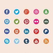Top 20 Social Media Icons Design PSD Free Download