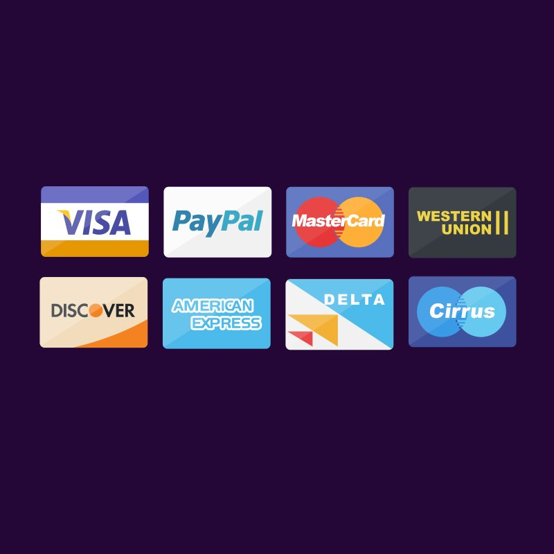 Top Debit Card, Credit Card and Payment Icons PSD Design