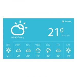 Weather Report Widget Template Design Free PSD Download