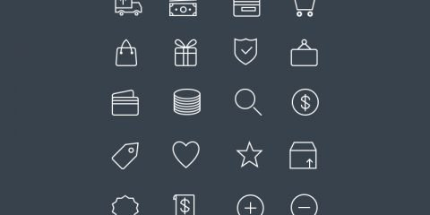 20 Ecommerce Line Icons Design Free PSD Download