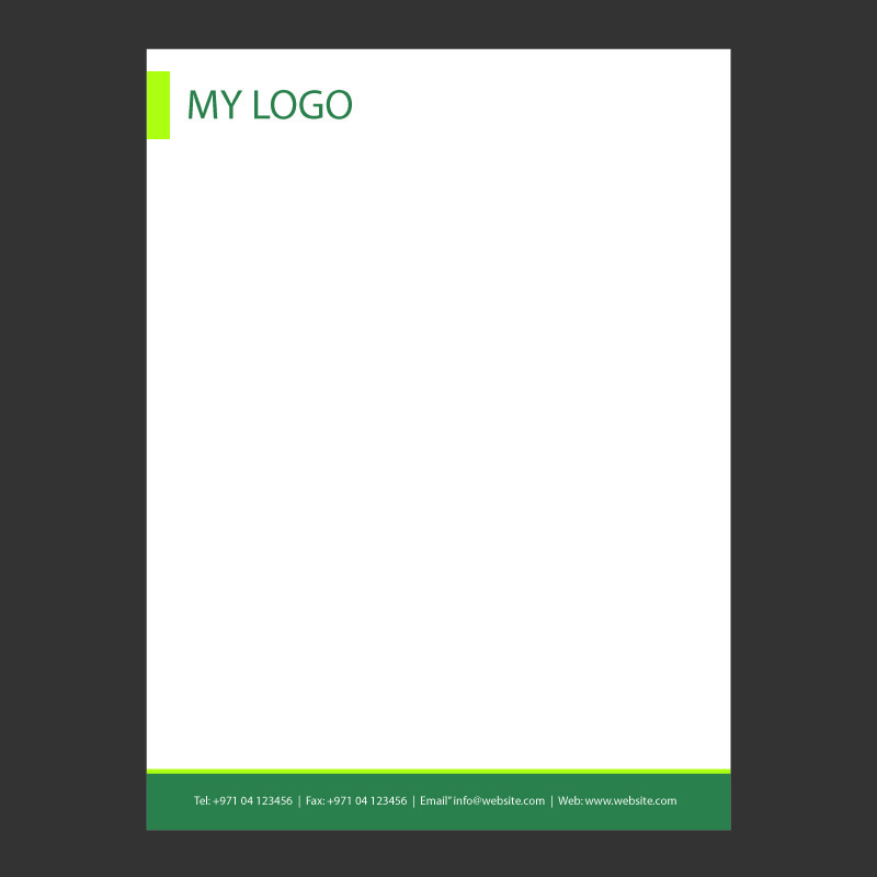 Clean Business Letterhead Design Free Vector Download