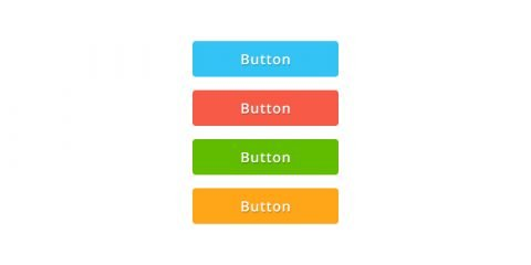 Colorful Flat Button Design PSD For UI & Website