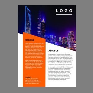 Modern Corporate Flyer Template Free PSD Design Download