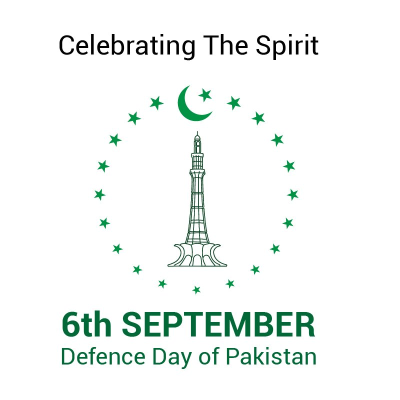 6th September Defence Day of Pakistan Card Design Free Vector File