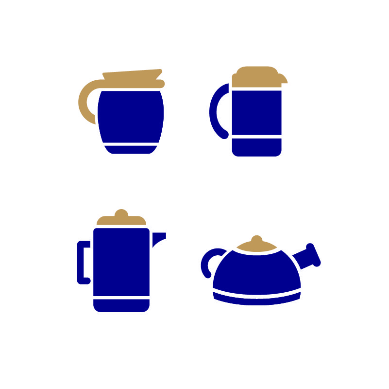 Coffee Maker Set Icons Design Free Vector File