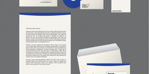 Corporate Clean Identity Design Free Vector File