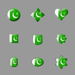 Pakistani Flag Badge Design Free Vectors Download