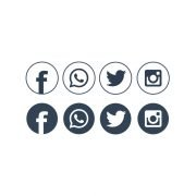 Free Social Networking Icons Design Vector Download