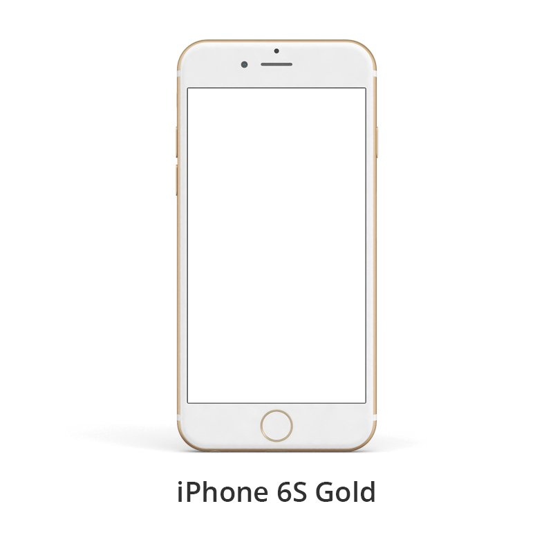 iPhone 6S Gold Free PSD Template Design