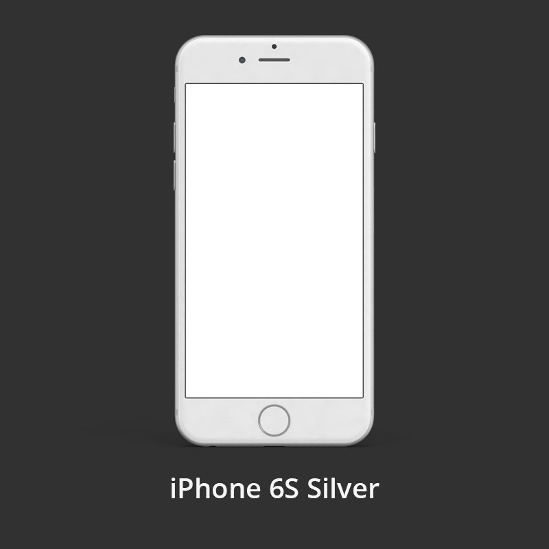 iPhone 6S Silver Free PSD Template Design