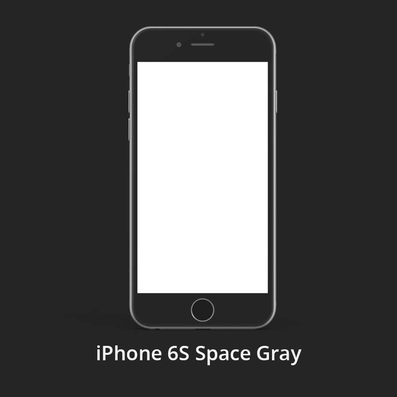 iPhone 6S Space Gray Free PSD Template Design