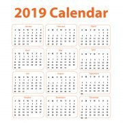 2019 Calendar Free Vector Corporate Design Download
