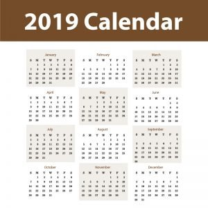 2019 Calendar Free Vector Design by GraphicMore