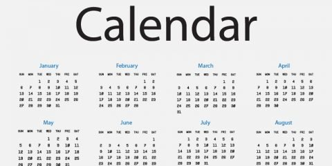 2019 Calendar Free Vector Design on Light Background