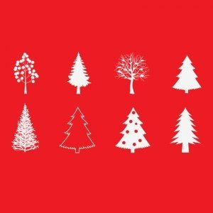 Christmas Tree Designs Free Vector Download by GraphicMore