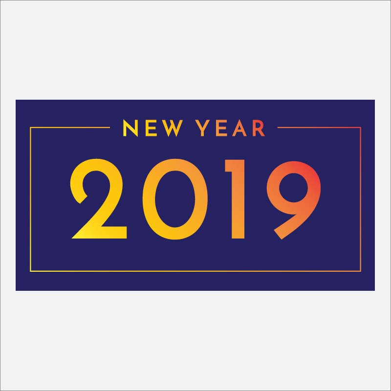 Download Happy New Year 2019 Free Banner Card Design