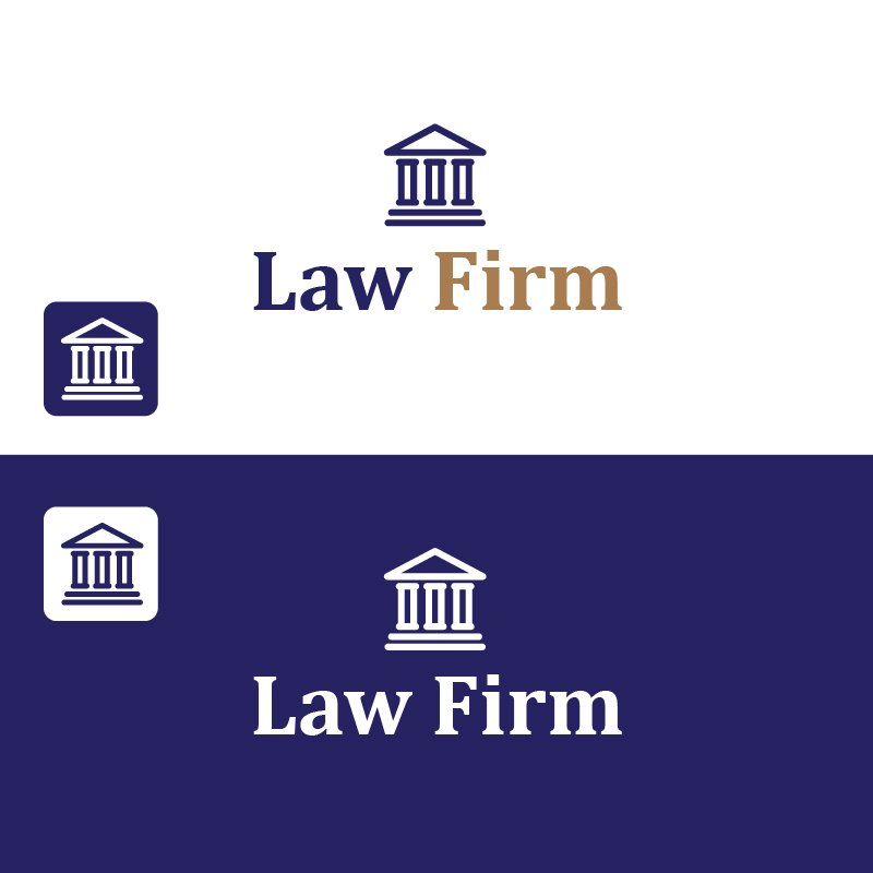 Free Law Firm Vector Logo with Icon Design by GraphicMore