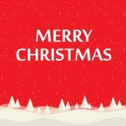 Free Merry Christmas Background Illustration With Typography Design