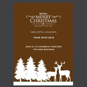 Free Merry Christmas Card Design Vector Download