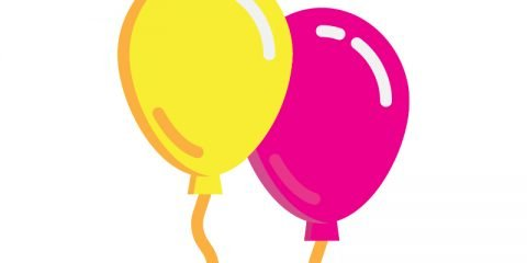 Free Vector Balloons for Birthday Party Celebration