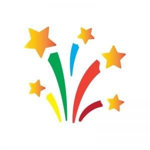 Free Vector Firework Stars for Birthday Party Celebration