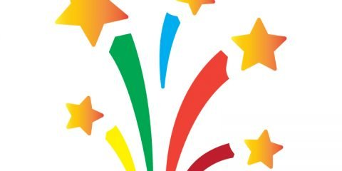Free Vector Firework Stars for Birthday Party Celebration