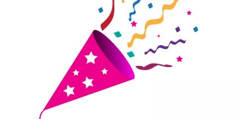 Free Vector Popper for Birthday Party Celebration