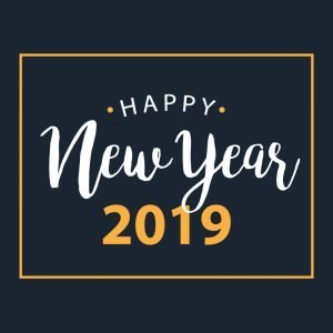 Happy New Year 2019 Free Banner Card Design