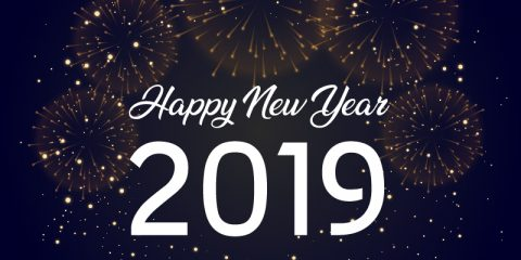 2019 Year Greeting Card Design Free Vector Download