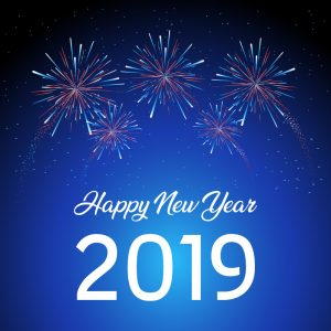 Download New Year 2019 Greeting Card Design Free Vector