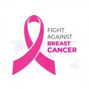 Fight Against Breast Cancer Card Design Free Vector