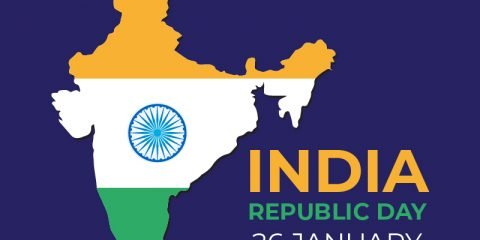 Free India Republic Day Greeting Card Vector Design