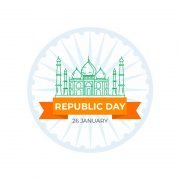 India Republic Day Greeting Card Design Free Vector