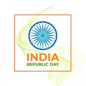 India Republic Day Greeting Card Free Vector Design