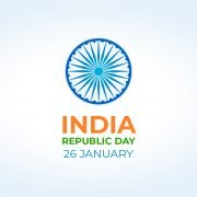 India Republic Day Greeting Card Vector Design