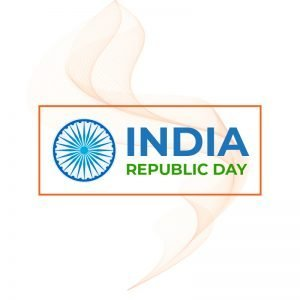 Republic Day of India Greeting Card Free Vector Design