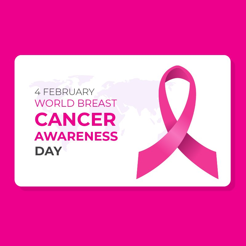 World Breast Cancer Awareness Day Card Design Free Vector