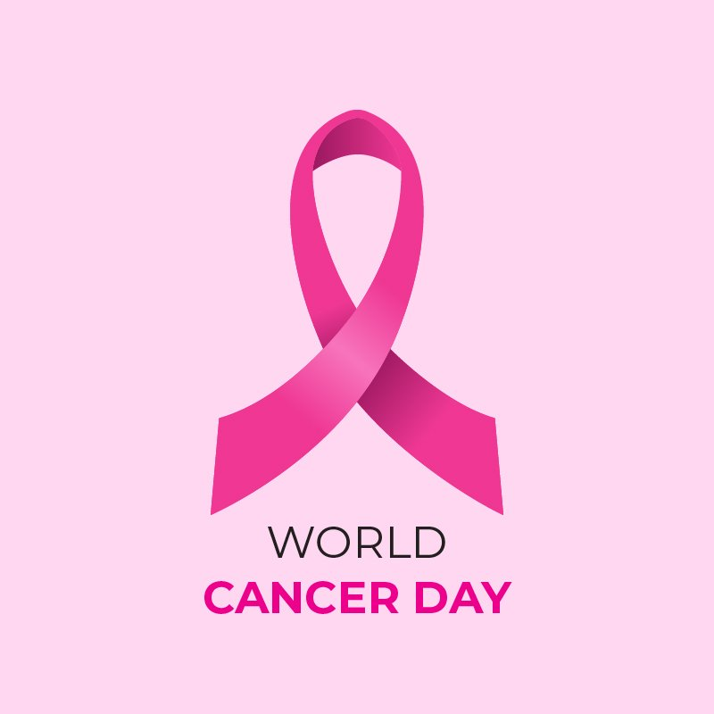 World Cancer Day Free Vector Card Corporate Design