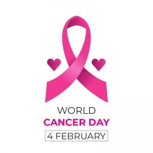 World Cancer Day with Heart Free Vector Card Design