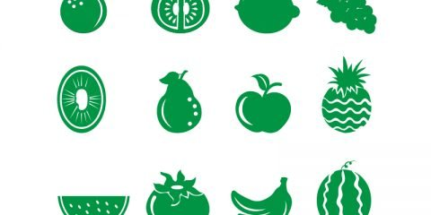 12 Best Fruits Vector Icons Collection Download