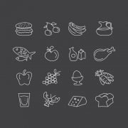 16 Food Icons Collection Free Vector Download