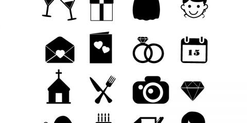 16 Wedding Icons Collection Free Vector Download