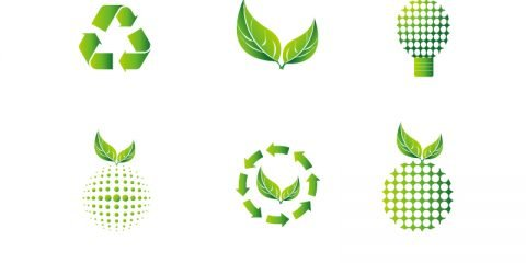6 Green Eco Icon Collection Free Vector Download