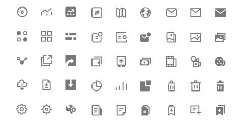 80 Free Icons Design for UI PSD Download