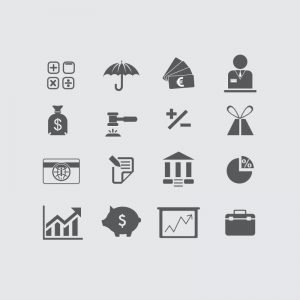 Banking & Finance Icons Design Collection Free Vector