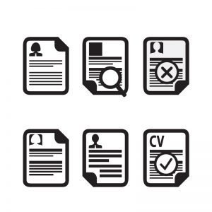 Curriculum Vitae (Resume) Icons Vector Collection Design