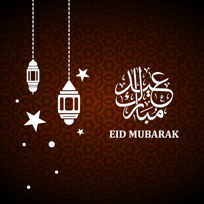 Eid Mubarak 2019 Greeting Banner Design Free Vector Download