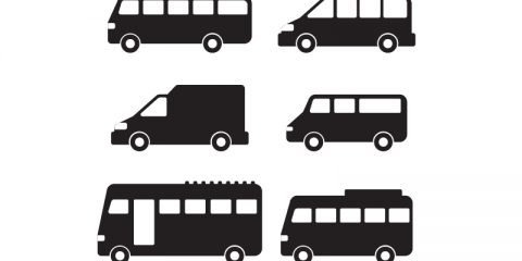 Minibus Vector Icon Free Collection Design
