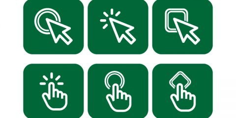 Mouse Click Free Vector Icon Collection Design